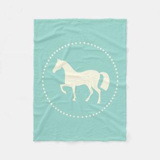 Rid- filt för hästsilhouetteull (krickan)