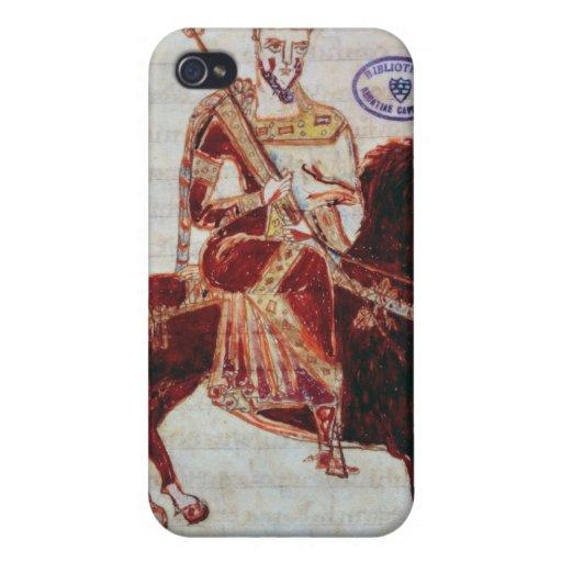 Rid- porträtt av den Pepin kungen av italien iPhone 4 Cover