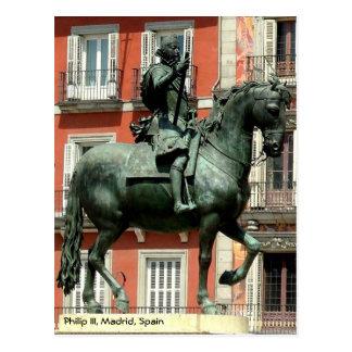 Rid- staty av Philip III, Madrid Vykort