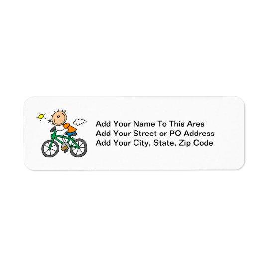 Rida cykeln - manlig returadress etikett