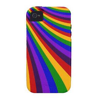Rida de färgrika randarna för regnbågeglidbanan