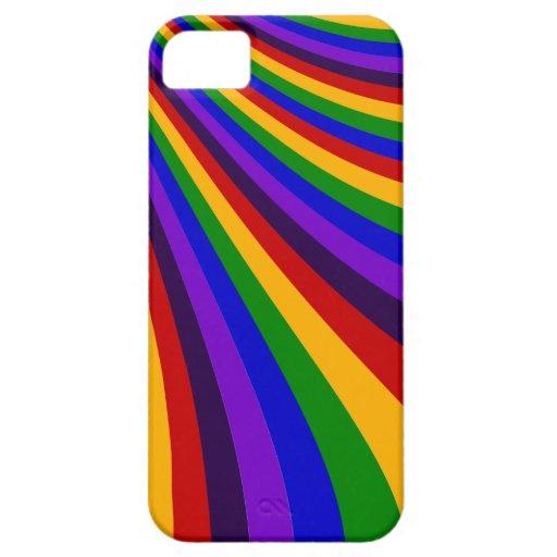 Rida de färgrika randarna för regnbågeglidbanan iPhone 5 Case-Mate fodral