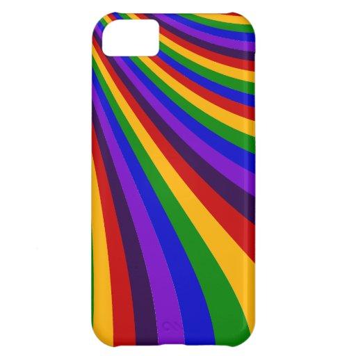 Rida de färgrika randarna för regnbågeglidbanan iPhone 5C mobil skal