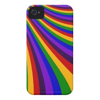 Rida de färgrika randarna för regnbågeglidbanan iPhone 4 Case-Mate skal