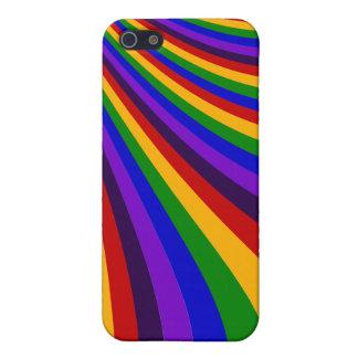 Rida de färgrika randarna för regnbågeglidbanan iPhone 5 skydd