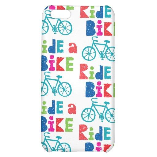 Rida en cykel - den Sketchy iphonen 4/4S iPhone 5C Mobil Fodral