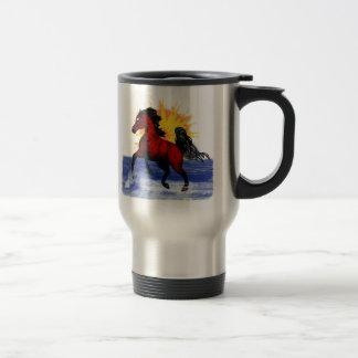 Rida för den arabiska hästtravel mug för ande resemugg