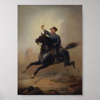 Rida Målning för General Philip Sheridans Poster