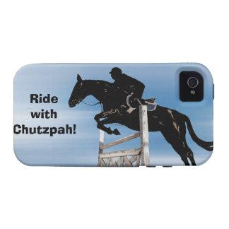 Rida med fodral för iPhone 4 för Chutzpahhästjumpe