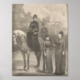 Rida vanaannons 1889 för Victorian Poster