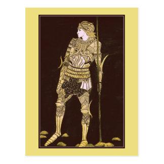 Riddare i det glänsande pansaret - guld vykort
