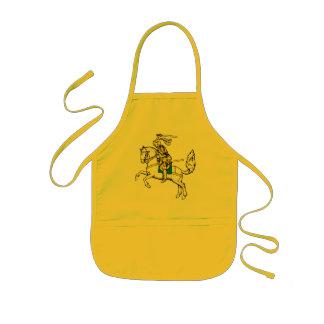 Riddare i gult pansar barnförkläde