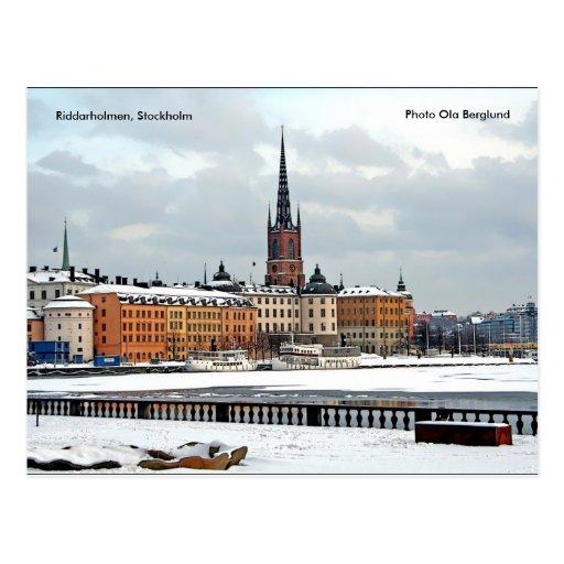 Riddarholmen Stockholm, fotonolla… Vykort