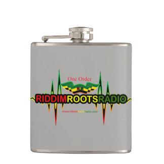 Riddim rotar radiosände slågna in flaskan för grå fickplunta