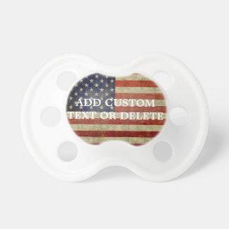 Riden ut bekymrad amerikanska flaggan napp