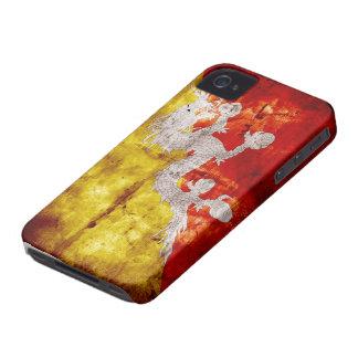 Riden ut bhutanesisk flagga iPhone 4 fodral