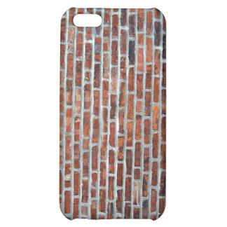 Riden ut nedfläckad röd tegelstenvägg iPhone 5C mobil skydd