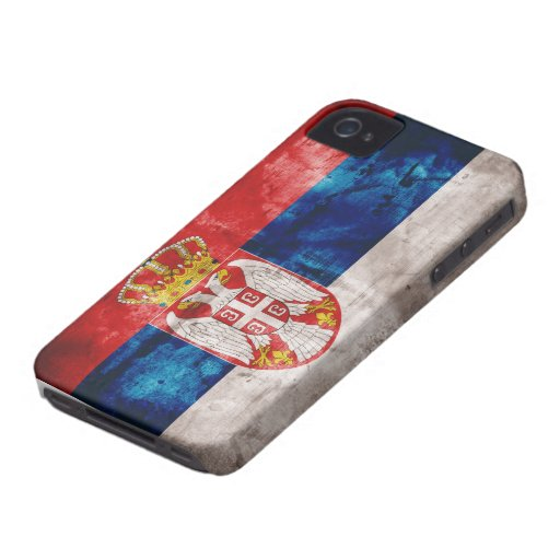 Riden ut Serbia flagga iPhone 4 Skal