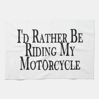 Rider ganska min motorcykel kökshandduk