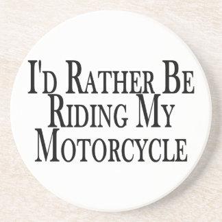 Rider ganska min motorcykel underlägg sandsten