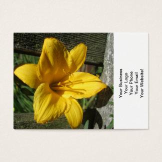 Ridit ut staket för lilja gult visitkort