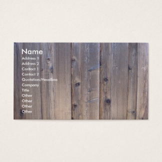 Ridit ut Wood staket Visitkort