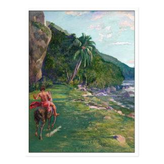 Ridväg Tahiti vid La Farge Vykort