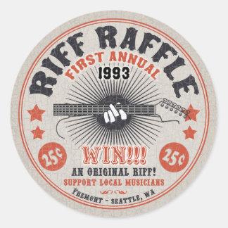 RiffRaffle Runt Klistermärke