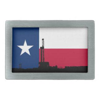 Rigg för borrande för Texas flaggaolja