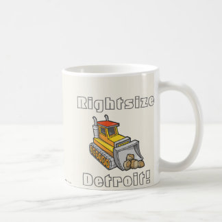 Rightsize Detroit! Kaffemugg