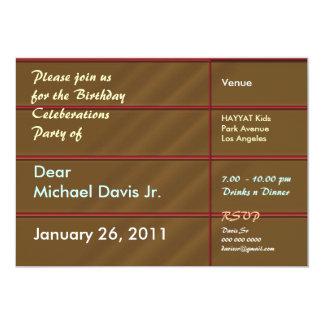Rik choklad - bruntet med tar prov text 12,7 x 17,8 cm inbjudningskort