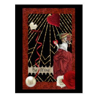Rik röda Marie Antoinette modevalentin Vykort