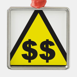 Rik undertecknar varningsdollar USD Julgransprydnad Metall