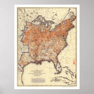 Rikedomfördelning USA 1872 Poster
