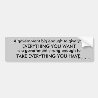 Riklig Thomas Jefferson stor regerings- quotation Bildekal