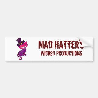 Riklig tokig hatters bildekal