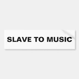 Rikligt slava till musik bildekal