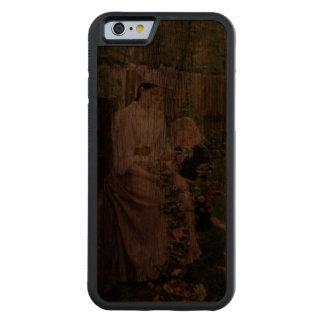 Rikligt Wood fodral för nostalgitelefon 6