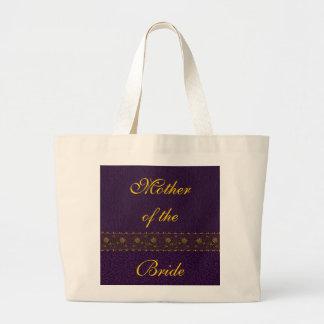 Rikt purpurfärgat bröllop tygkasse