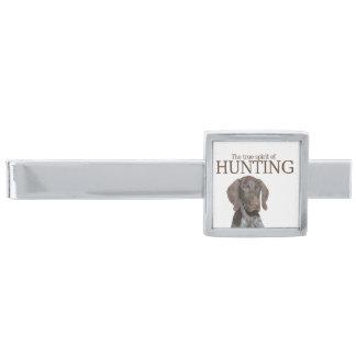 Riktig ande för glansig Grizzly av jakt Slipsnål Med Silverfinish