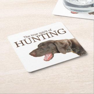 Riktig ande för glansig Grizzly av jakt Underlägg Papper Kvadrat