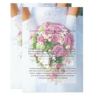 Riktning för bröllop för bukett för blomma för 12,7 x 17,8 cm inbjudningskort