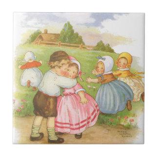 Rim för barnkammare för gås för vintageGeorgie Kakelplatta