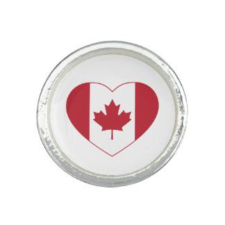 Ring för Kanada flaggahjärta