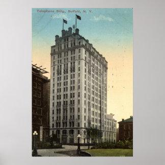 Ringa byggnad, vintage 1915 för buffeln NY Poster