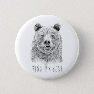 Ringa min björn (bw) standard knapp rund 5.7 cm