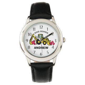 RingbärareBackhoe och hjärtor Armbandsur