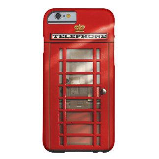 Ringer brittiskt rött för klassiker boxas barely there iPhone 6 skal