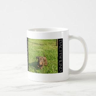 Rinnande Doxie valp Kaffemugg