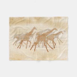 Rinnande giraff ID141 Fleecefilt